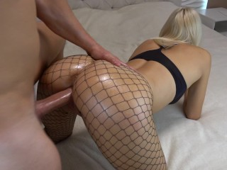 Outdoor reverse cowgirl blonde devon